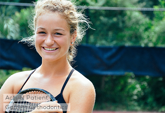 Our favorite tennis player is done with her Invisalign Orthodontic treatment! We took her photo at a tennis court near her house at Dunes West, Mt. Pleasant, South Carolina