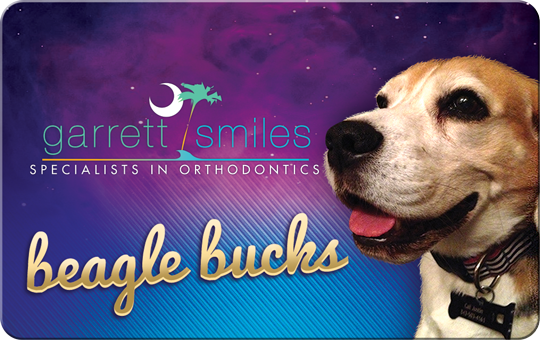 Beagle Bucks for Garrett Smiles Rewards